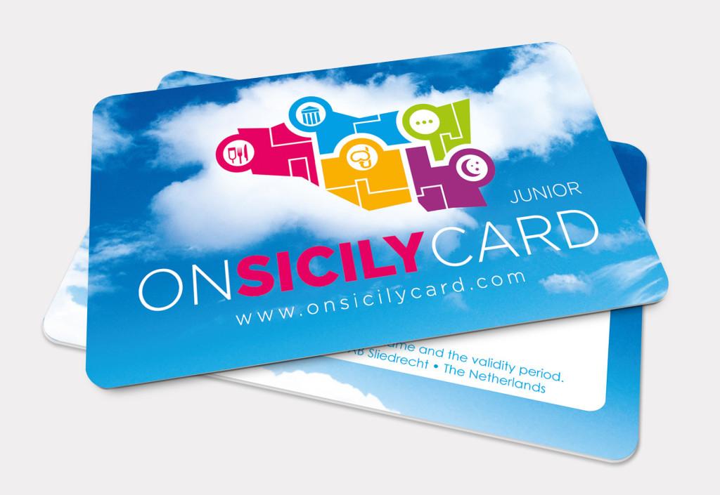 On Sicily | Card Junior en logo