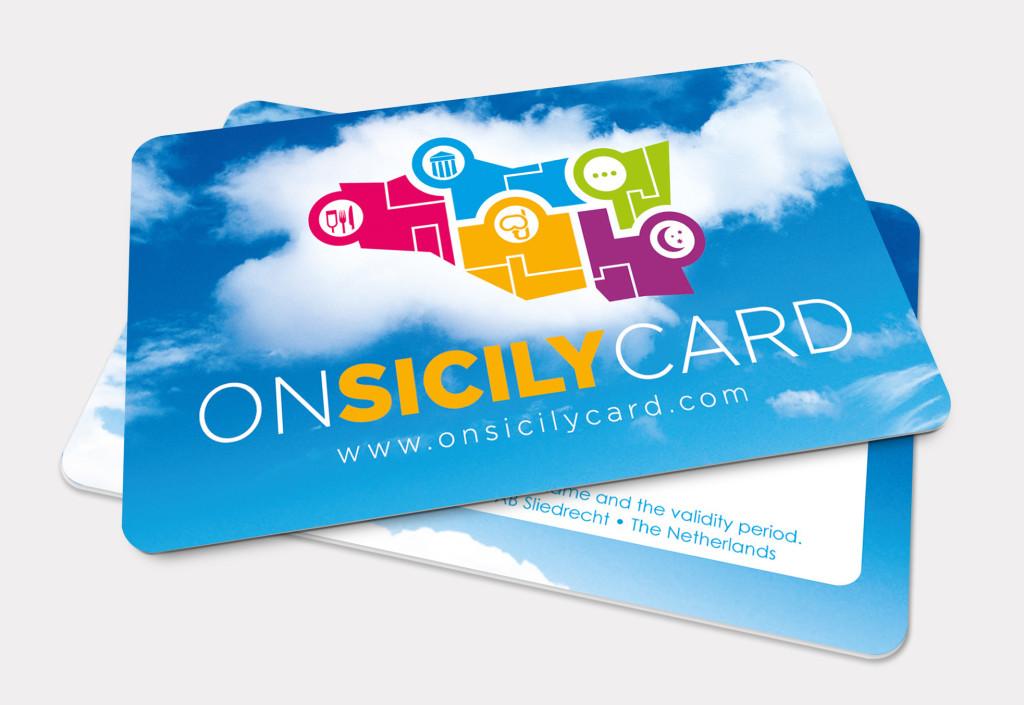 On Sicily | Card en logo